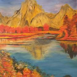 nature, 25 x 34 inch, bablu pramanik,paintings,abstract paintings,nature paintings,oil sheet,oil,25x34inch,GAL0773818038Nature,environment,Beauty,scenery,greenery