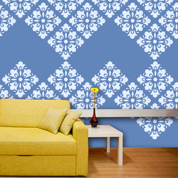 wall stencil: glossy flower border wall design stencil , 1 stencil (size 12x12 inches) | reusable | diy, 12 x 12 inch, wall stencil designs,12x12inch,ohp plastic sheets,flower designs,plastic,GAL0118076,GAL0118076