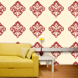 wall stencil: royal design wall stencil , 1 stencil (size 12x12 inches) | reusable | diy, 12 x 12 inch, wall stencil designs,12x12inch,ohp plastic sheets,flower designs,plastic,GAL0118077,GAL0118077
