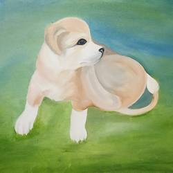 street puppy, 20 x 16 inch, tarang mishra,paintings,wildlife paintings,paintings for living room,paintings for bedroom,paintings for kids room,paintings for school,paintings for living room,paintings for bedroom,paintings for kids room,paintings for school,canvas,oil,20x16inch,GAL0839518078