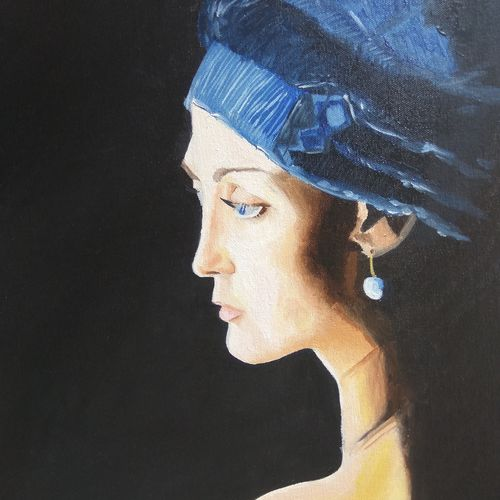 waiting, 16 x 20 inch, namrata dey,paintings,portrait paintings,paintings for living room,paintings for bedroom,paintings for hotel,paintings for school,paintings for hospital,canvas board,oil,16x20inch,GAL0866518079
