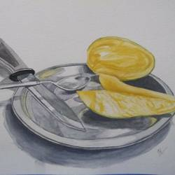 summer special, 8 x 12 inch, neetu tewari,still life paintings,paintings for dining room,paintings for hotel,paintings for kitchen,brustro watercolor paper,watercolor,8x12inch,GAL0874418082