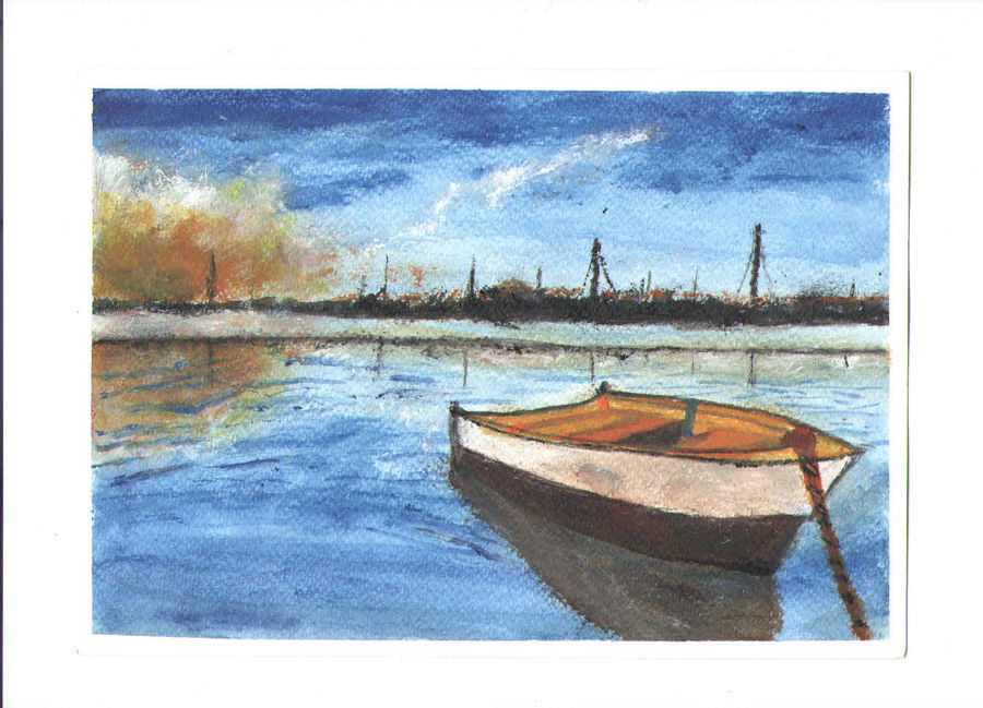 lake, 7 x 10 inch, idhaya bency  james,paintings,landscape paintings,nature paintings,paintings for living room,paintings for living room,renaissance watercolor paper,acrylic color,7x10inch,GAL0880518095Nature,environment,Beauty,scenery,greenery