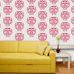 wall stencil: glossy design of wall stencil , 1 stencil (size 12x12 inches) | reusable | diy, 12 x 12 inch, wall stencil designs,12x12inch,ohp plastic sheets,flower designs,plastic,GAL0118106,GAL0118106