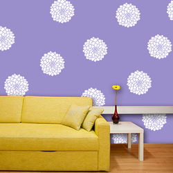 wall stencil: glossy modern flower wall design stencil , 1 stencil (size 12x12 inches) | reusable | diy, 12 x 12 inch, wall stencil designs,12x12inch,ohp plastic sheets,flower designs,plastic,GAL0118108,GAL0118108