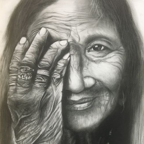 the lines of ageing beauty, 16 x 24 inch, monisha  singhal,drawings,paintings for living room,paintings for office,paintings for hotel,figurative drawings,portrait drawings,realism drawings,paintings for living room,paintings for office,paintings for hotel,paper,charcoal,16x24inch,GAL0473818128