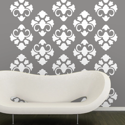 wall stencil: royal design wall stencil , 1 stencil (size 12x12 inches) | reusable | diy, 12 x 12 inch, wall stencil designs,12x12inch,ohp plastic sheets,flower designs,plastic,GAL0118143,GAL0118143