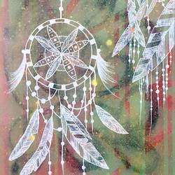 dreamcatcher, 19 x 25 inch, ashansh saroha,paintings,modern art paintings,art deco paintings,pop art paintings,street art,paintings for living room,paintings for hotel,paintings for living room,paintings for hotel,canvas,charcoal,pastel color,poster color,19x25inch,GAL0890518164