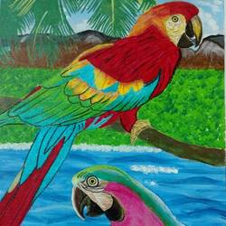 gods unique creation., 12 x 20 inch, j.k  chhatwal,wildlife paintings,canvas,acrylic color,12x20inch,GAL0537818196