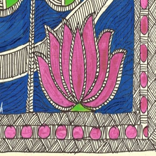 madhubani pink lotus, 29 x 21 inch, treesa joseph,paintings,flower paintings,folk art paintings,madhubani paintings,paintings for dining room,paintings for living room,paintings for bedroom,paintings for office,paintings for kids room,paintings for hotel,paintings for school,paintings for dining room,paintings for living room,paintings for bedroom,paintings for office,paintings for kids room,paintings for hotel,paintings for school,handmade paper,acrylic color,29x21inch,GAL0888318203
