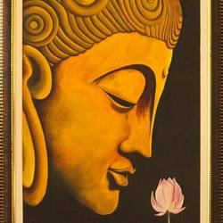 buddha in a dream, 20 x 30 inch, ayan chakrabarti,paintings,buddha paintings,hardboard,oil,20x30inch,GAL0895818205
