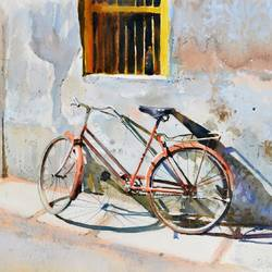 rest, 21 x 14 inch, ramesh jhawar,paintings,still life paintings,realism paintings,street art,realistic paintings,paintings for dining room,paintings for living room,paintings for bedroom,paintings for office,paintings for hotel,paintings for hospital,arches paper,watercolor,21x14inch,GAL0897018242