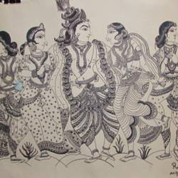 raag, 22 x 28 inch, madhusmita choudhury,paintings,radha krishna paintings,paintings for dining room,paintings for living room,paintings for bedroom,paintings for hotel,thick paper,pen color,22x28inch,GAL0670918257,radhakrishna,love,pece,lordkrishna,,lordradha,peace,flute,music,radha,krishna,devotion,couple