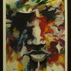 abstract human face, 18 x 24 inch, ayan chakrabarti,paintings,abstract paintings,figurative paintings,hardboard,mixed media,oil,18x24inch,GAL0895818277