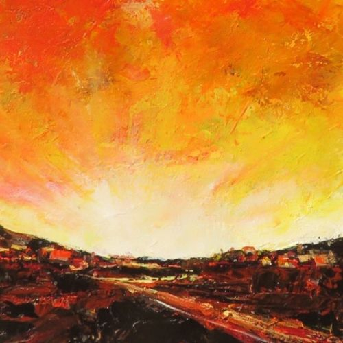 abstract landscape , 27 x 33 inch, neelam  sharma,paintings,abstract paintings,paintings for living room,paintings for living room,canvas,acrylic color,27x33inch,GAL0883618324