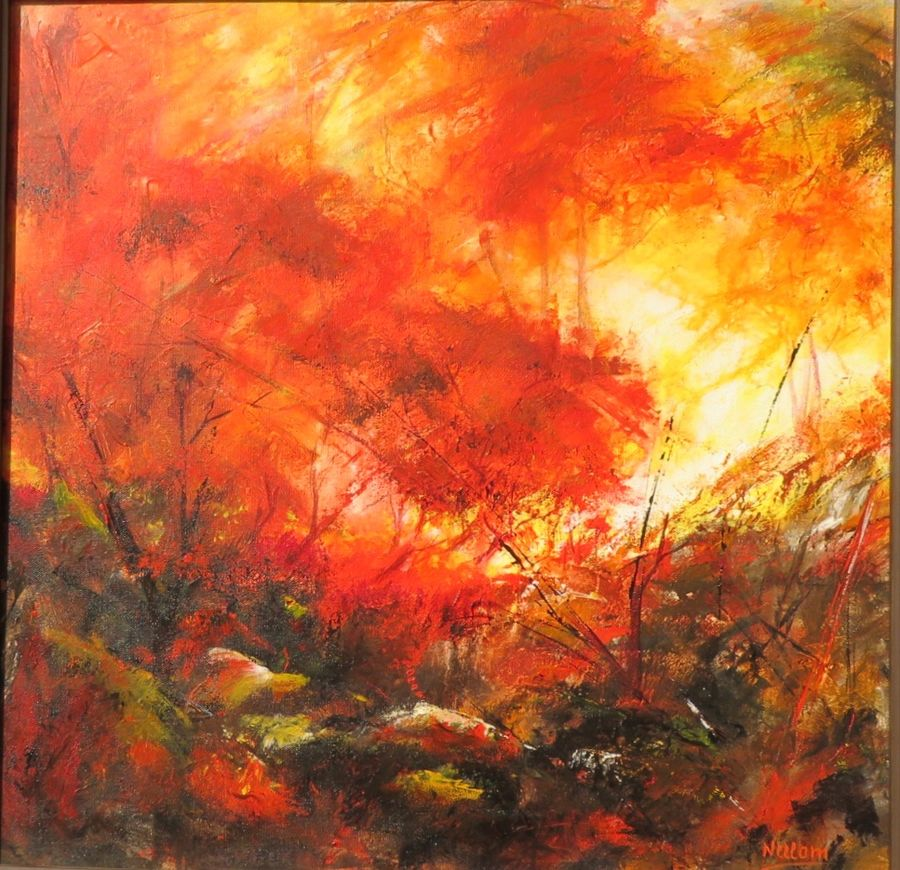 abstract landscape , 27 x 27 inch, neelam  sharma,paintings,abstract paintings,paintings for living room,canvas,acrylic color,27x27inch,GAL0883618327