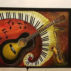 musicals, 24 x 36 inch, divya gadre,paintings,abstract paintings,paintings for living room,paintings for living room,canvas,acrylic color,24x36inch,GAL0885318340