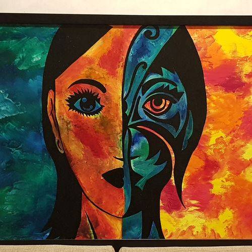 faces, 36 x 24 inch, divya gadre,paintings,abstract paintings,abstract expressionist paintings,paintings for living room,canvas,acrylic color,36x24inch,GAL0885318341
