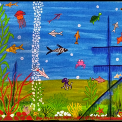under water, 16 x 20 inch, geeta kwatra,paintings,nature paintings,canvas,acrylic color,16x20inch,GAL0899118344Nature,environment,Beauty,scenery,greenery