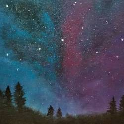 gazing at the stars, 8 x 10 inch, reji  r,paintings,abstract paintings,canvas board,acrylic color,8x10inch,GAL0899218347