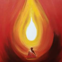 soul meditation, 24 x 36 inch, neeti dwivedi ,paintings,buddha paintings,religious paintings,art deco paintings,paintings for dining room,paintings for living room,paintings for bedroom,paintings for office,paintings for kids room,paintings for hotel,paintings for school,paintings for hospital,canvas,oil,24x36inch,religious,peace,meditation,meditating,gautam,goutam,buddha,lord,monk,light,GAL0916718379
