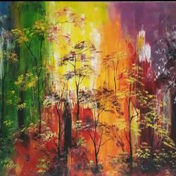 abstract forest, 18 x 30 inch, neeti dwivedi ,paintings,abstract paintings,wildlife paintings,flower paintings,landscape paintings,modern art paintings,nature paintings,art deco paintings,paintings for dining room,paintings for living room,paintings for bedroom,paintings for office,paintings for kids room,paintings for hotel,paintings for school,paintings for hospital,canvas board,oil,18x30inch,GAL0916718380Nature,environment,Beauty,scenery,greenery