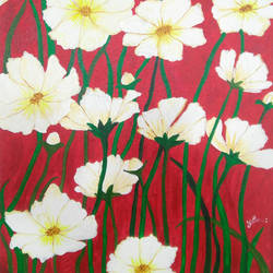 flowers, 16 x 18 inch, pooja dhuri,paintings,abstract paintings,canvas,acrylic color,16x18inch,GAL0923018419