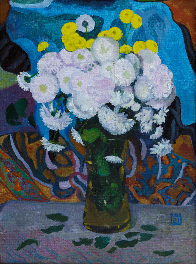 white flowers, 22 x 16 inch, moesey li,flower paintings,paintings for living room,paintings,canvas,oil paint,22x16inch,GAL07181846