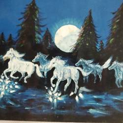 let's splash & enjoy, 36 x 24 inch, j.k  chhatwal,animal paintings,horse paintings,paintings for dining room,paintings for living room,paintings for office,paintings for bathroom,paintings for hotel,canvas,acrylic color,36x24inch,GAL0537818470