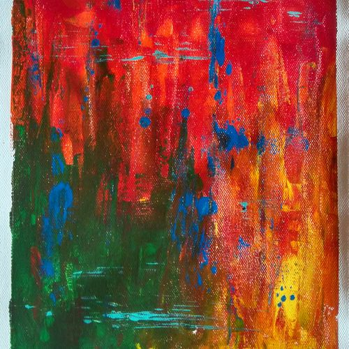 aflame, 8 x 11 inch, poorti kolge-badia,paintings,abstract paintings,paintings for dining room,paintings for living room,paintings for bedroom,paintings for office,paintings for bathroom,paintings for hotel,canvas,acrylic color,8x11inch,GAL0911618487
