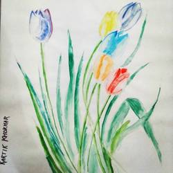 flowers, 12 x 16 inch, kartik khokhar,flower paintings,paintings for living room,paper,watercolor,12x16inch,GAL07381851