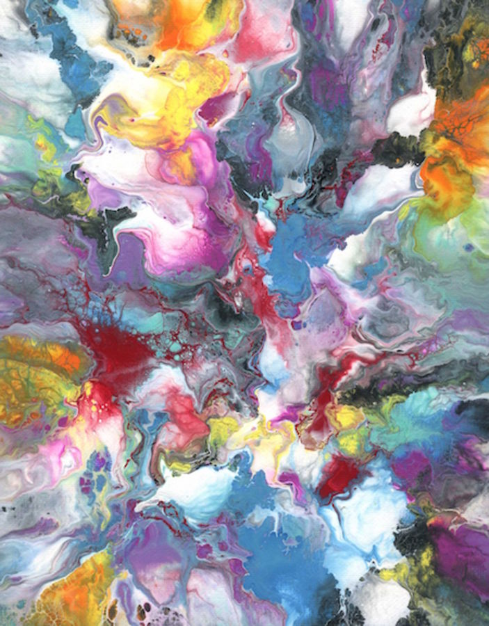 Mix color abstract