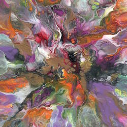 color beauty of abstract art print by Gallerist