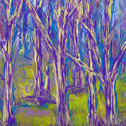 Purple abstract tree art print by Gallerist