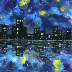 City abstract art print by Gallerist