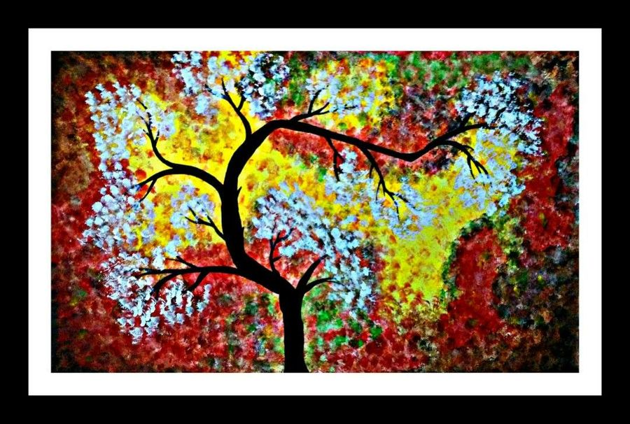 flowers, 28 x 16 inch, huma sadiya,nature paintings,paintings for bedroom,thick paper,watercolor,28x16inch,GAL05631853Nature,environment,Beauty,scenery,greenery