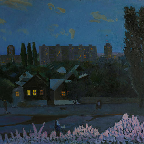 spring evening, 43 x 30 inch, moesey li,cityscape paintings,paintings for bedroom,canvas,oil paint,43x30inch,GAL07181855
