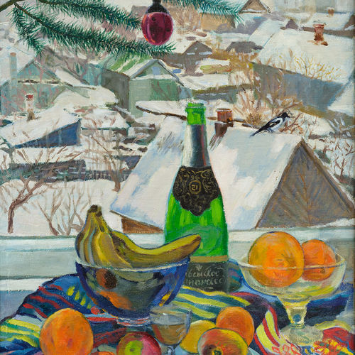 christmas still life, 30 x 21 inch, moesey li,still life paintings,paintings for dining room,paintings,canvas,oil paint,30x21inch,GAL07181856
