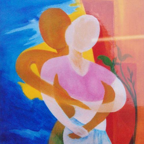romance, 10 x 17 inch, a.b.  kaser,abstract paintings,paintings for bedroom,canvas,acrylic color,10x17inch,GAL06361858