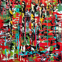 Red beauty abstract art print by Gallerist