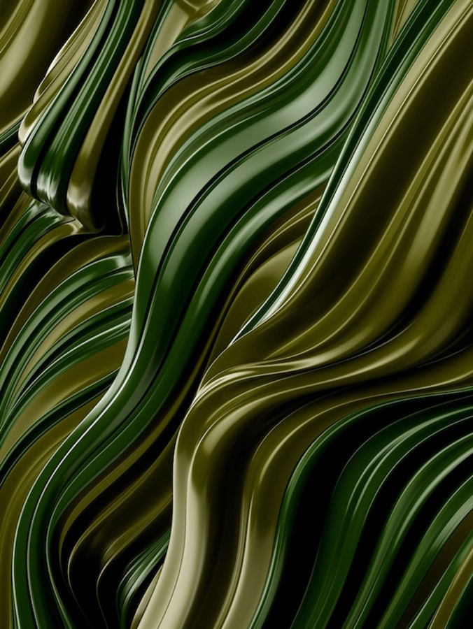 Glossy green with gold shade abstract