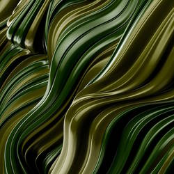 Glossy green with gold shade abstract art print by Gallerist
