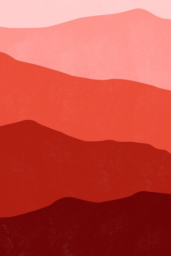 Glossy red abstract
