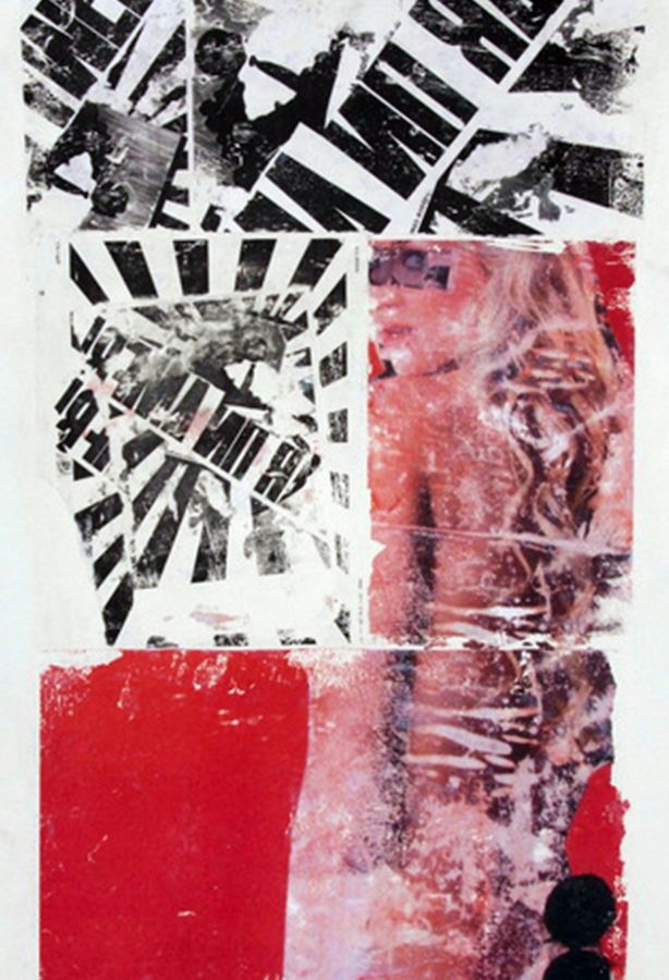 Black mix with red shade abstract