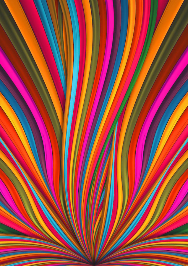 Glossy colorful line of abstract