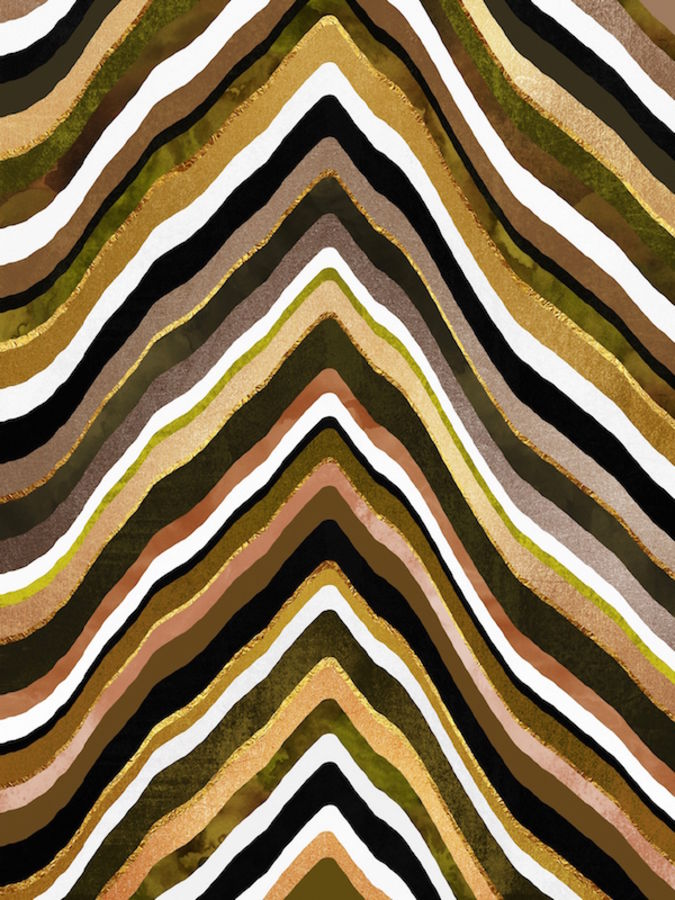 Brown mix with white strip abstract
