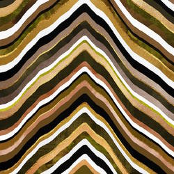 Brown mix with white strip abstract art print by Gallerist
