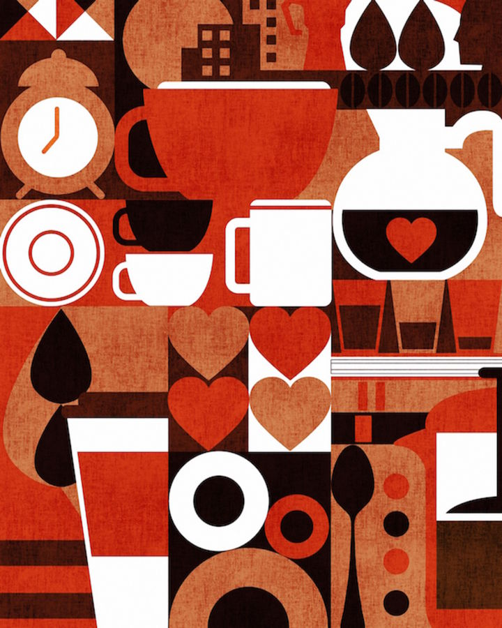 Red cup abstract