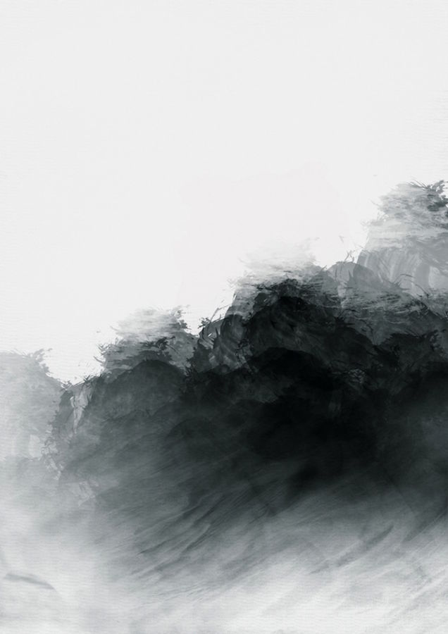 Black shade of white abstract