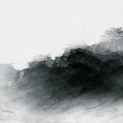 Black shade of white abstract art print by Gallerist